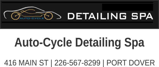 Auto-Cycle Detailing Spa – Port Dover