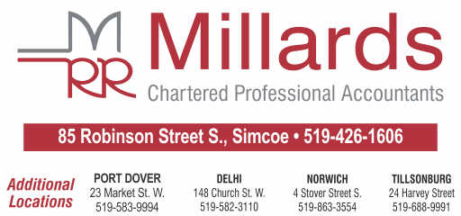 Millards Chartered Accountants – 2019 Calendar Bronze Sponsor