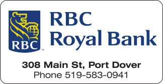 Royal Bank – Port Dover – 2019 Calendar Page Sponsor