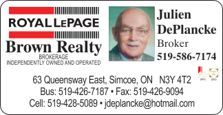 Royal LePage – Brown Realty – Julien DePlancke – 2019 Calendar Page Sponsor