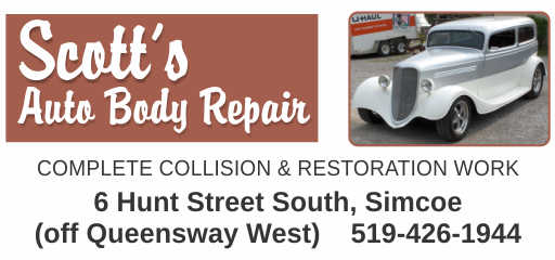 Scott's Auto Body Repair – 2019 Calendar Page Sponsor
