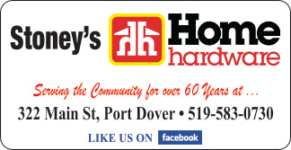Stoney's Home Hardware Port Dover – 2019 Calendar Page Sponsor